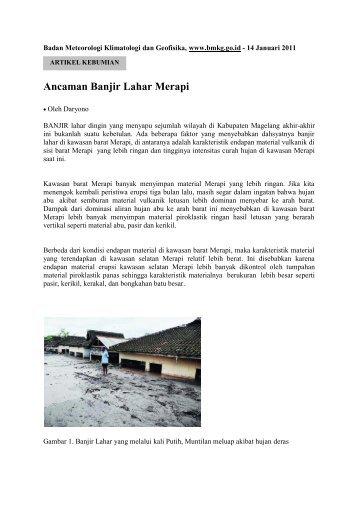 Ancaman Banjir Lahar Merapi - BMKG