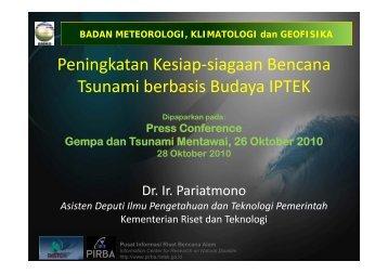 Peningkatan Kesiap-siagaan Bencana Tsunami berbasis ... - BMG