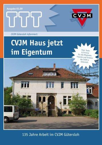CVJM Haus jetzt im Eigentum - CVJM Gütersloh eV