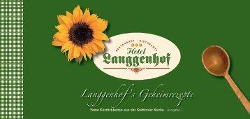 Rezepte 2008 - Hotel Langgenhof