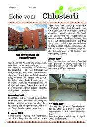 Ausgabe Juni 1 / Abschluss der Erweiterung Planung - Altersheim ...