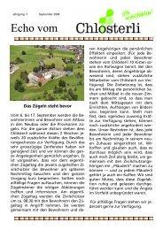 Ausgabe September Teil 1 - Altersheim Chlösterli, Unterägeri