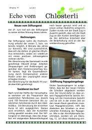 Ausgabe Juli / neues vom Stifungsrat