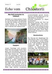 Ausgabe Juni / weitere Projekte