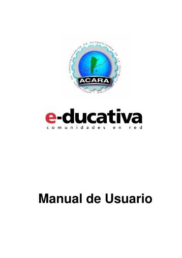 Manual de Usuario - Campus Virtual - Acara