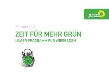 Wahlprogramm - Zeit für mehr Grün