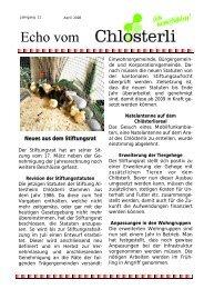 Ausgabe April - Altersheim Chlösterli, Unterägeri