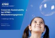 Corporate Sustainability bei KPMG - Gute Geschäfte Heidelberg