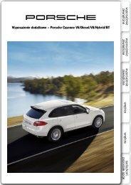 Wyposażenie dodatkowe – Porsche Cayenne V6/Diesel/V8/Hybrid/BT