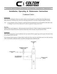 Condensate Coolers - Colton