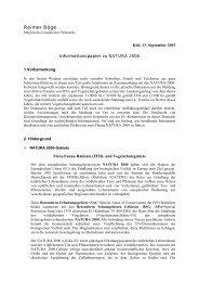 Informationspapier zu NATURA 2000 - Reimer Böge, MdEP