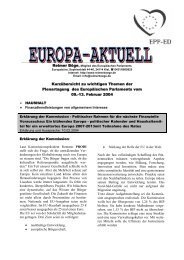 Europa-Aktuell Februar 2004 - Reimer Böge, MdEP