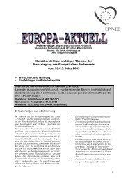 Europa-Aktuell März 2003 - Reimer Böge, MdEP
