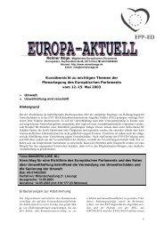 Europa-Aktuell Mai 2003 - Reimer Böge, MdEP