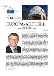 Europa-Aktuell Januar 2012 - Reimer Böge, MdEP