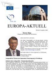 Europa-Aktuell Oktober 2006 - Reimer Böge, MdEP