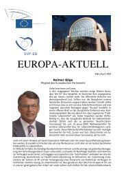 Europa-Aktuell April 2009 - Reimer Böge, MdEP