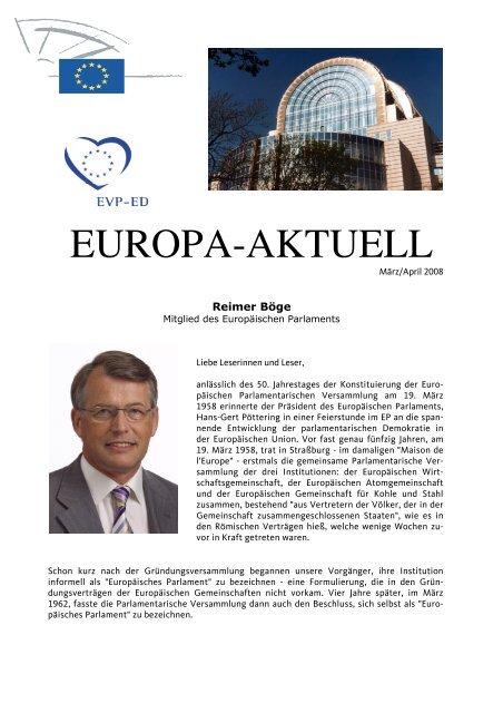 Europa-Aktuell April 2008 - Reimer Böge, MdEP