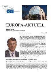 Europa-Aktuell Juni 2007 - Reimer Böge, MdEP