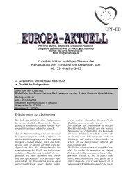 Europa-Aktuell Oktober 2003 - Reimer Böge, MdEP