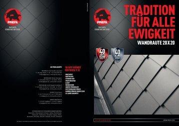 wandraute 20x20 - Prefa