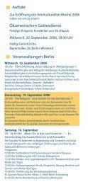 Veranstaltungen in Berlin - Interkulturelle Woche Berlin