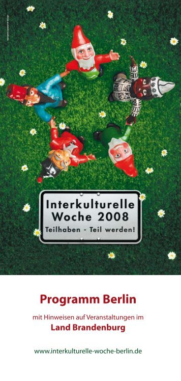 Programmheft 2008 - Interkulturelle Woche Berlin