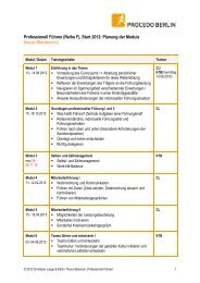 Curriculum - PROCEDO BERLIN