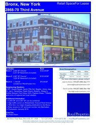 Bronx, New York 2868-70 Third Avenue - Royal Properties, Inc.
