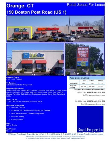 Orange, CT 150 Boston Post Road (US 1) - Royal Properties, Inc.
