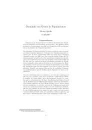 Dynamik von Genen in Populationen