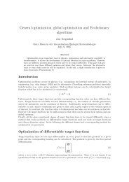 General optimization, global optimization and Evolutionary algorithms
