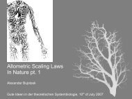 Allometric Scaling Laws In Nature pt. 1