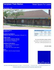 Tarrytown Train Station Retail Space For Lease - Royal Properties, Inc.
