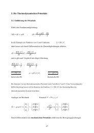 Vorlesung 5: Die thermodynamischen Potentiale