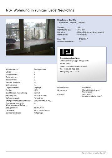 NB- Wohnung in ruhiger Lage Neuköllns