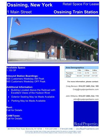 tarrytown train station retail space for lease royal properties inc
