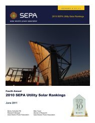 2010 SEPA Utility Solar Rankings - Solar Electric Power Association