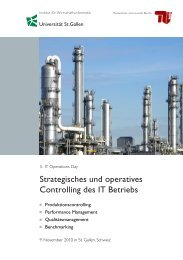 Strategisches und operatives Controlling des IT ... - IT Operations Day