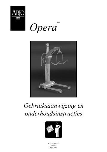 Gebruikershandleiding Opera tillift