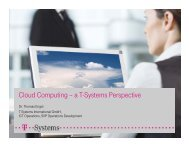 Cloud Computing – a T-Systems Perspective - IT Operations Day