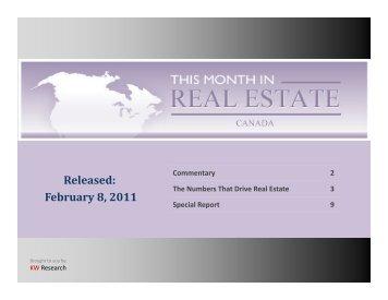 Released: February 8, 2011 - Keller Williams Realty