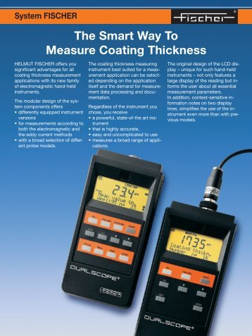 The Smart Way To Measure Coating Thickness - Helmut Fischer
