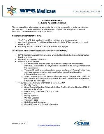 Opt Out Affidavit - WPS Medicare