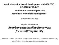 An urban sustainability framework for retrofitting the city - RE-GREEN
