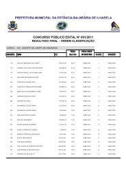 CONCURSO PÚBLICO EDITAL N° 001/2011 - Instituto Mais