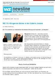 Pressebericht als PDF - JANZEN Galerie