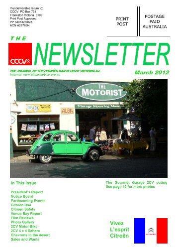 March 2012 - Citroën Car Club of Victoria Inc.