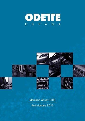 Memoria Anual 2009 Actividades 2010 - Odette España