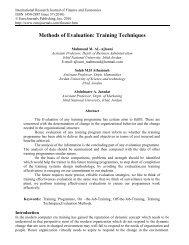 Methods of Evaluation: Training  Techniques - EuroJournals